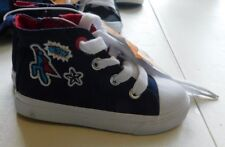 New Cat & Jack Youth Shoes Size 6 Super Hero High Top Navy Diem Canvas Sneaker