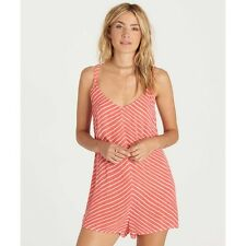 1458adc7de90 Billabong Pink Women s Large L Striped V-neck Relaxed Fit Romper  455