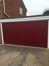 100% POSITIVE NEW ELECTRIC INSULATED ROLLER SHUTTER GARAGE DOOR DOUBLE WIDTH