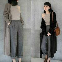 Women's knitted Cashmere Warm Sweater Winter Long Cardigan Loose cloak Coat