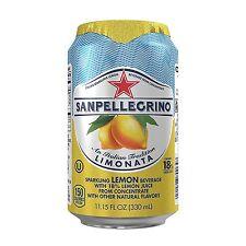 San Pellegrino Sparkling Fruit Beverages, Limonata/Lemon 11.15-ounce cans Total