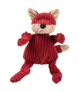 HuggleHounds Knotties Plush TUFFUT cute Corduroy FOX Dog toy SMALL NEW