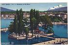 Suisse - cpa - GENEVE - Ile J.J. Rousseau et le Mont Blanc