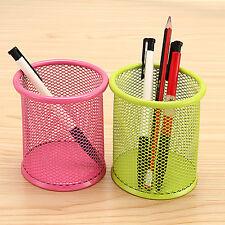Office Supplies Desk Organizer Tool Mesh Pen Pencil Holder Round multiple Colour