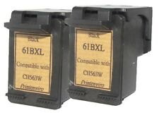 2pcs HP 61XL HP 61 Black CH563WA Refilled Ink Cart 66% More Ink Large Sponge