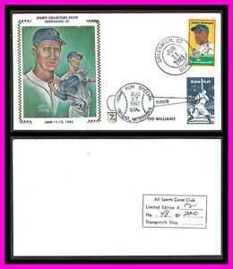 TED WILLIAMS event cover: Greenwich, CT Sports Collectors Show - double cancel