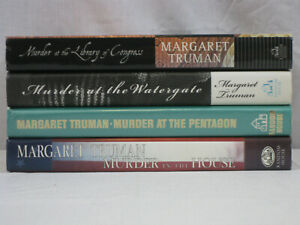 Margaret Truman 4 HCDJ book lot Murder in the House, Pentagon, Watergate.. VG