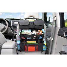 Car Seat Back Organizer Caddy Pouch Pocket - Black