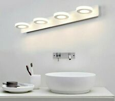 LED Bathroom Wall Lights Clear Glass Vanity Mirror Indoor Lamps Plated Stainless