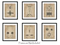 "6 Nikola Tesla Wall Art Patent Prints (8""x10"") Geek Home Decor Engineer Gifts"