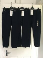 MARKS & SPENCER BOYS NAVY TRACKSUIT JOGGING BOTTOMS 3 Pairs Age 10-11 Years Bnwt