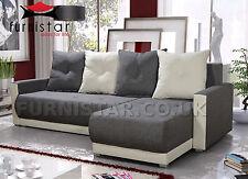 Corner Sofa Bed COUCH SETTEE INSIGNIA storage BONELL SPRINGS polskie narozniki