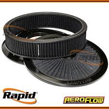 "Black Full Flow Air Filter Assembly with 1-1/8"" Drop base Aeroflow AF2251-3040"
