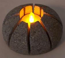 Shiny Star Handmade Natural Stone Zen Tealight Candle Holder & LED Candle
