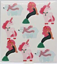 Christmas Mermaid Unicorn Polar Bear 3 Sheets per package RC Stickers