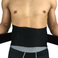 BA_ ADJUSTABLE DOUBLE PULL LUMBAR SUPPORT LOWER BACK BELT BRACE PAIN RELIEF GORG