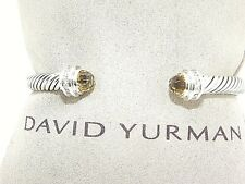 DAVID YURMAN 5MM CITRINE AND DIAMOND CABLE CLASSICS BRACELET NEW