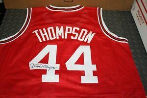DAVID THOMPSON #44 SIGNED NC STATE WOLFPACK CUSTOM JERSEY JSA CERTIFIED RARE!