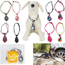 9Pcs Adjustable Cute Grooming Pet Necktie Small Dog Puppy Cat Kitten Bow Tie US