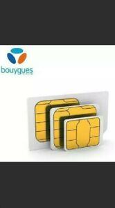 5 Cartes sim prépayée 4G bouygues telecom sans abonnement