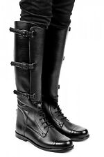 New Mux Leather Horse Riding Officer Field Boot with side 3 Buckles UK size 5-12