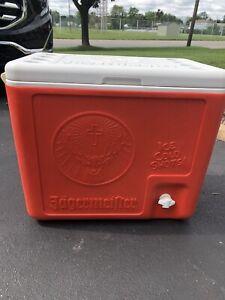 Jagermeister Large Orange Cooler with Ice Cold Shots Dispenser