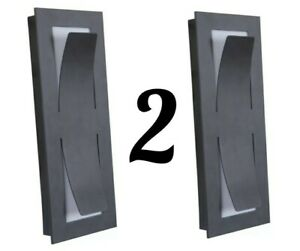 Craftmade Z4802-MN-LED Enzo LED 14 inch Midnight Outdoor Pocket Sconce, Lot 2