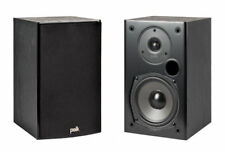 Polk T15 Bookshelf Speakers - Black