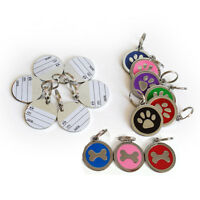Dog ID Tag Free Custom Personalized Engraved Pet Puppy Cat necklace Name Charm-E