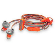 The Hoop Neon Orange Gym Coloud Sports Anchor EarBud Headphones Mic1+ Remote