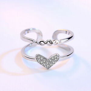 Adjustable 925 Sterling Silver Toe Ring Thumb Ring Knuckle Wishbone Ring Wedding