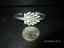 cuff bracelet Signed Ew Sterling Silver and Turquoise arrow