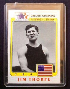 1983 Fll Sports Card  Greatest Olympians - 1912 Stockholm Olympiad - Jim Thorpe