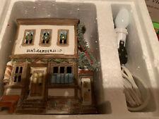 """Dept 56 Heritage Village New England """"Ben's Barber Shop"""" 59390 Lighted House"""