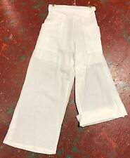 Nwt SACRED THREADS white slightly crinckled cotton harem adjustable PANTS M L
