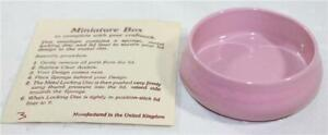FrameCraft Made in UK Pink Round Porcelain Box Counted Cross Stitch Finish'g PC