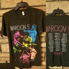 Maroon 5 Shirt Adult Small 2015 Concert Tour Exclusive graphics Black New