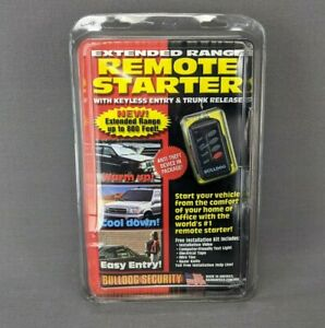 Bulldog Security Remote Starter Extended Range w/Keyless Entry Trunk Release NEW
