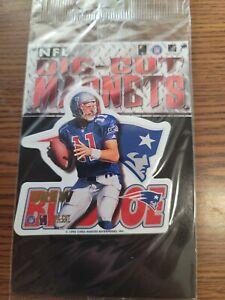 Lot of 80 Drew Bledsoe patriots NFL FOOTBALL 1996 die cut MAGNETS NEW SEALED