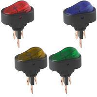 5 X KFZ 12V Wippschalter SPST Wippenschalter LED Beleuchtet Einbauschalter Licht