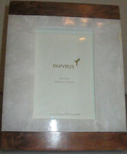 NEW PAPYRUS 4x6 WOOD & ALABASTER TABLETOP PICTURE FRAME #786010