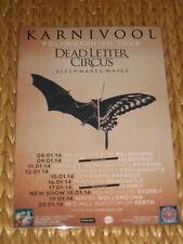 KARNIVOOL - 2014  AUSTRALIAN TOUR -  LAMINATED TOUR POSTER