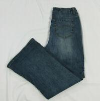 Ruff Hewn Womens Size 8S Jeans Blue Denim Boot Cut Dark Wash Inseam 28 EUC