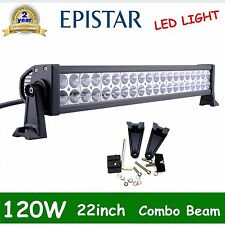 "22""in 120w Flood Spot Combo Led Work light Bar 4WD UTE Offroad SUV ATV 240W DEAL"