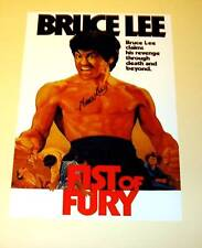 """FIST OF FURY PP SIGNED POSTER 12""""X8"""" BRUCE LEE KUNG FU"""
