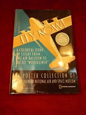 """OLDER NAT GEO BOOK """"FLY NOW"""" POSTER COLLECTION OF THE SMITHSONIAN AIR & SPACE"""
