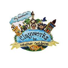 My Hometown Shelf Talker Blue Sky Clayworks Heather Goldminc