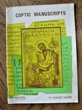 Coptic Manuscripts by Dr. Raouf Habib (Paperback)