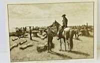 Harpers Weekly 1887 Wheat Farming Harvest Postcard In Dakota Territory #ED118