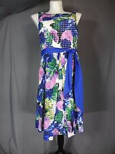 fe8ab256cfe10 ELIZA J SLEEVELESS FLORAL PRINT Fit and Flare DRESS size 14